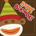 Happy Birthday Monkey napkins #YoYoBirthday