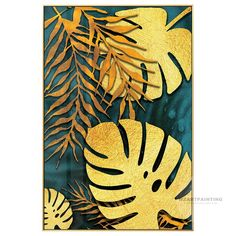 Framed Wall Art Modern Gold Turtle Leaf Print Painting on Canvas Large wall art Pictures Painting Wall Art Pictures Cuadros Abstractos Large Wall Art, Framed Wall Art, Canvas Wall Art, Wall Art Prints, Canvas Art Quotes, Hanging Paintings, Gold Leaf Art, Wall Art Pictures, Leaf Prints
