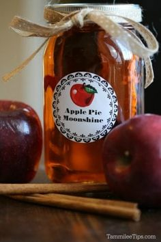 Super easy to make homemade Crock Pot Apple Pie Moonshine Recipe is absolutely delicious! Learn how to make moonshine in the slow cooker with this recipe. Made with everclear this recipe packs a punch. This make a great holiday gift or DIY birthday gift. Crockpot Apple Pie, Best Crockpot Recipes, Apple Recipes, Cooker Recipes, Crockpot Meals, Holiday Recipes, Jamie's Recipes, Crockpot Dishes, Delicious Recipes