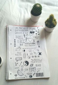 Image via We Heart It #cactus #doodle #draw #drawing #notebook #tumblr #mayasezen