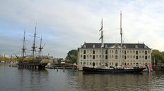 The National Maritime Museum (Het Scheepvaartmuseum) in Amsterdam has a large collection of shipping-related items and a replica of a Golden Age sailboat.