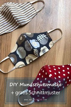 Mundschutz nähen mit Schnittmuster *kostenlos* - WE GO WILD You have little experience with the sewi Sewing Patterns Free, Clothing Patterns, Free Pattern, Pattern Sewing, Diy Crafts For Kids, Crafts To Sell, Diy Y Manualidades, Mouth Guard, Sewing For Beginners