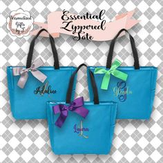 Personalized Bridesmaid Gift Tote Bag- Wedding Party Gift- Bridal Party Gift- Initial Tote- Mother of the Bride Gift Monogrammed Bridesmaid Gifts, Bridesmaid Tote Bags, Etsy Bridesmaid Gifts, Bridesmaids, Wedding Gifts For Groomsmen, Gifts For Wedding Party, Bridal Gifts, Party Gifts, Wedding Favors