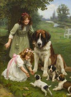Arthur John Elsley - A Mothers Love (88 pieces)