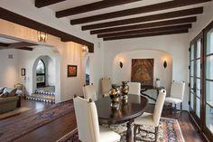 Montecito Residence - mediterranean - dining room - santa barbara - Lindsey Adams Construction Inc.