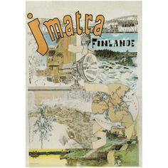 Imatra/ 1893/ Akseli Gallen-Kallela The very first artistic travel poster published in Finland