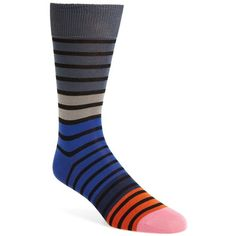 Men's Paul Smith Fialor Socks ($30) ❤ liked on Polyvore featuring men's fashion, men's clothing, men's socks, grey, mens grey socks, mens striped socks, mens socks, mens gray socks and paul smith mens socks