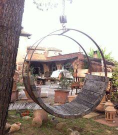 Schaukel Garten Gestaltung Ideen Bierfass  #bierfass #gardenfurniture #garten #gestaltung #ideen #schaukel