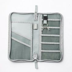 Muji nylon passport case. A great way to keep travel documents (like your boarding pass) on hand for the gate.