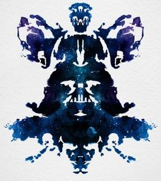 ink blot test : 'I see Darth Vader'