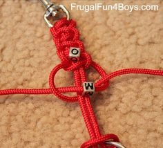 How to make parachute cord key chains and zipper pulls