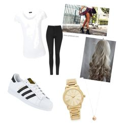 """Casual but dressy "" by alyvinsik on Polyvore featuring adidas, Topshop, Joseph, Michael Kors and Dorothy Perkins"
