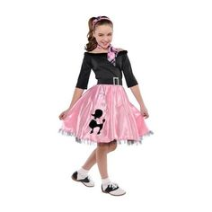 Girls Miss Sock Hop Costume ❤ liked on Polyvore featuring costume