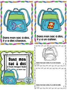 Introduce your French students to Back to School vocabulary with this fun emergent reader A surprise twist at the end, as well as the option to make a class book will engage your beginning French learners! French Teaching Resources, Teaching French, Teaching Ideas, French Language Lessons, French Lessons, Back To School Art Activity, Interactive Math Journals, French Flashcards, French Education