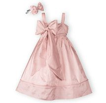 Silk Bow Dress - Girls' Special Occasion Dresses, Boys' Special Occasion Outfits