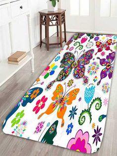Prezzi e Sconti: #Skidproof floral butterfly bath rug  ad Euro 10.05 in #Home #Moda
