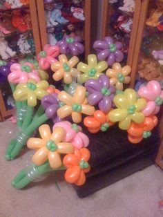 Balloon Flower Bouquets: what fun would this be for the wedding rehersal!