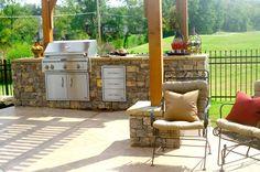 Stylish outdoor kitchen