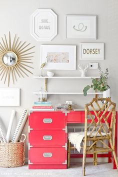 Chinoiserie Chic: The Chinoiserie Workspace