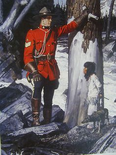 Canadian Mountie RCMP print, A Fribergindian child