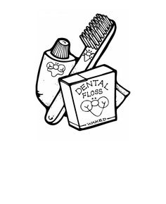 coloring pages for brushing your teeth