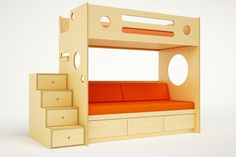 Handmade by our expert craftsmen using modern designs and styles, Casa Kids builds children's bunk beds. Visit our site to view our collection of bunk beds. Bunk Beds With Stairs, Kids Bunk Beds, Loft Beds, Kids Daybed, Bed Stairs, Casa Kids, Twin Xl Mattress, Modern Bunk Beds, Modern Loft