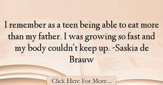 Saskia de Brauw Quotes About Teen - 67927