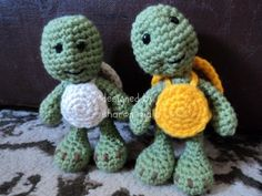 I love turtles! Free Turtle Crochet Pattern Easy Amigurumi Turtle by Sharon Ojala I'd love to make these into ninja turtles for my husband :-)