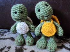 I love turtles!  Free Turtle Crochet Pattern Easy Amigurumi Turtle by Sharon Ojala  I'd love to make these into ninja turtles for my husband :-)