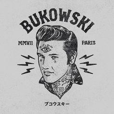Bukowski, Logo, Elvis, Branding, Paris http://ift.tt/1JBNKZX