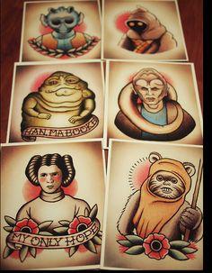 The Star Wars Culture: Star Wars tattoo flash
