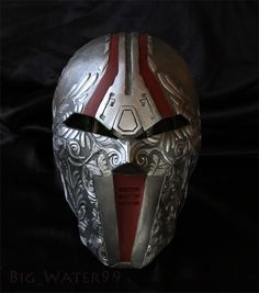 Sith Acolyte Mask old republic revan Star wars Helmet prop Cosplay Star Wars Helmet, Star Wars Sith, Star Wars Rpg, Sith Mask, 3d Printed Mask, Sith Costume, Star Wars The Old, Star Wars Costumes, The Old Republic