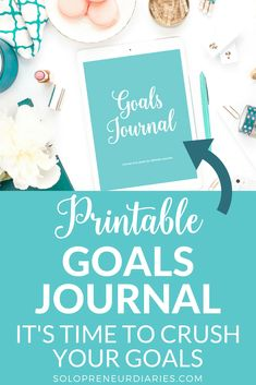 Journal your goals for ultimate success. | Productivity Tips | Printables | Goal Setting | Stay Focused | Small Business Tips | Entrepreneur | How to Achieve Goals | Goal Planning #productivity #goals #goaldigger