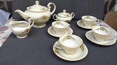 Porcelain And China Marks Art Nouveau, Antique Tea Sets, Chocolate Pots, Coffee Set, Tea Time, Art Decor, Tea Pots, Porcelain, Pottery