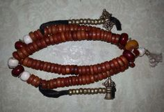 "13"" Old Tibet Tibetan Buddhist Yak Bone 108 Prayer Beads Mala"