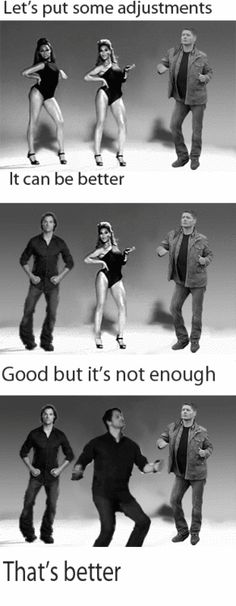 dancing winchesters. Hahahahahaha totally want to marry any of these gorgeous hilarious men!