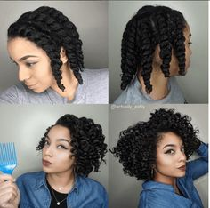 Try this Chunky Flat Twist Out is for defined curls
