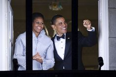 Nobel Peace Prize laureate, US President Barack Obama (R) and First Lady Michelle Obama greet the torch parade from the balcony of the Grand Hotel in Oslo on December 10, 2009. US President Barack Obama today accepted the Nobel Peace Prize, uncomfortably acknowledging his role as a leader at war while insisting that conflict can be morally justified.  AFP PHOTO/Cornelius Poppe/SCANPIX NORWAY OUT        (Photo credit should read JEWEL SAMAD/AFP/Getty Images) via @AOL_Lifestyle Read more…