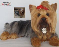 Custom Needle Felted Dog Pomeranian Spitz Sculpture por WoolArtToys