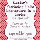 These materials are intended for use with character study in Reader's Workshop.   Included in this packet are: *Lists of popular book series translated into Spanish, by level (from 4/D to 50/V) *A variety of graphic organizers focusing on characters (15 total) *An anchor chart for Setting and External Characteristics *Vocabulary lists for Internal and External Characteristics *Word wall cards for Internal and External Characteristics (59-65 word cards each) *Blank word wall cards for ...