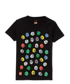 Take a look at this Black Minifigures LEGO Heads Tee - Boys on zulily today!