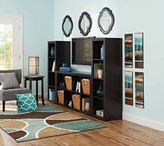 Better Homes and Gardens 16-Cube Wall Unit Organizer