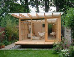 Garden Shed Design Backyard Office Ideas Shed Office, Backyard Office, Backyard Studio, Garden Office, Cozy Backyard, Outdoor Office, Modern Backyard, Backyard Retreat, Tiny Office