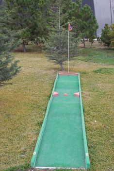 You don't have to hit the links when a golf course could be right in your own backyard. Using ordinary household objects to construct the course – like cereal boxes, cardboard tubes and books – you can create this fun and challenging 9-hole miniature golf game the whole family will enjoy.