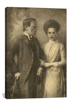 Mr. And Mrs. Frankenstein by Terry Fan Canvas Print