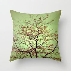 Throw Pillow Cover Abstract Green Tree by SylviaCPhotography, $42.00