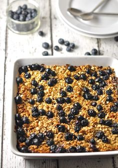 Apple and Blueberry Baked Oatmeal
