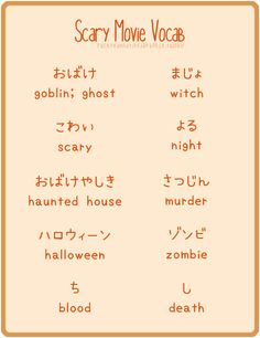 ♥日本の文字♥ scary movie Japanese character