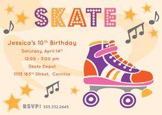 free skate party printable