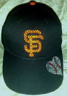 3f4a0fcafab679 SF Giants Licensed MLB hat is custom blinged for all the ladies who love their  Giants! $45 Like Blingy Thingys on FaceBook!